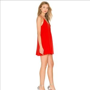 Alice + Olivia Fierra Dress in Red Size XS